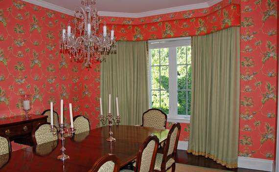 Custom draperies, top treatments and wall coverings